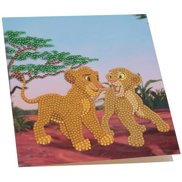 Kit Crystal Art Disney - Carte Le Roi Lion - 18 x 18 cm - Photo n°2