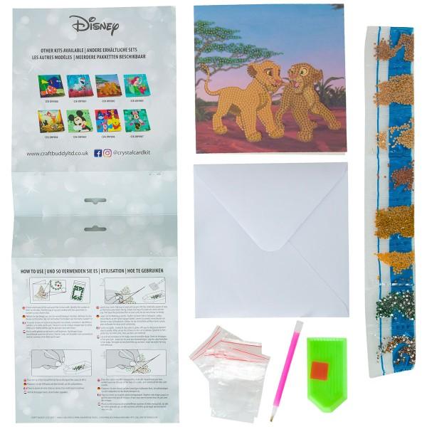 Kit Crystal Art Disney - Carte Le Roi Lion - 18 x 18 cm - Photo n°4