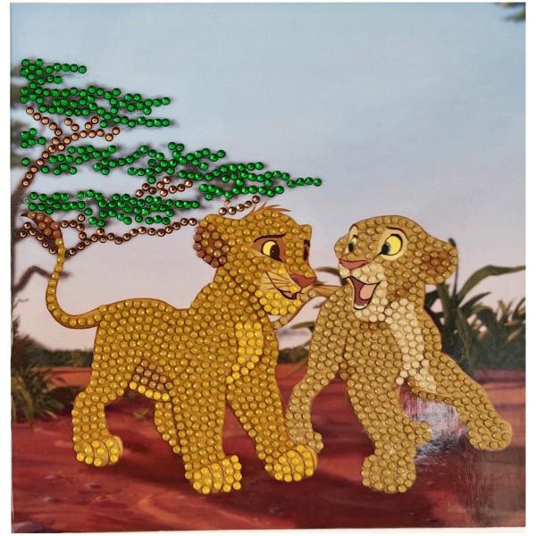 Kit Crystal Art Disney - Carte Le Roi Lion - 18 x 18 cm - Photo n°5
