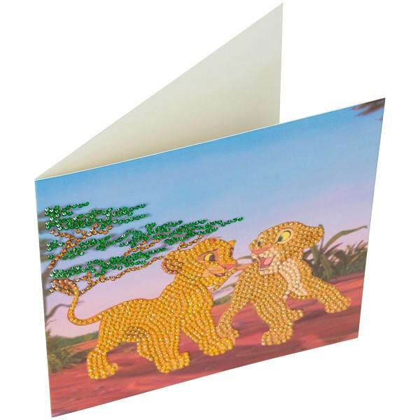 Kit Crystal Art Disney - Carte Le Roi Lion - 18 x 18 cm - Photo n°6