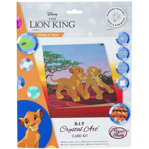 Kit Crystal Art Disney - Carte Le Roi Lion - 18 x 18 cm - Photo n°1