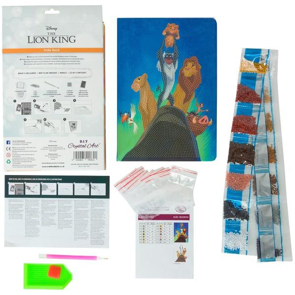 Kit Crystal Art Disney - Carnet Le Roi Lion - 26 x 18 cm - Photo n°4