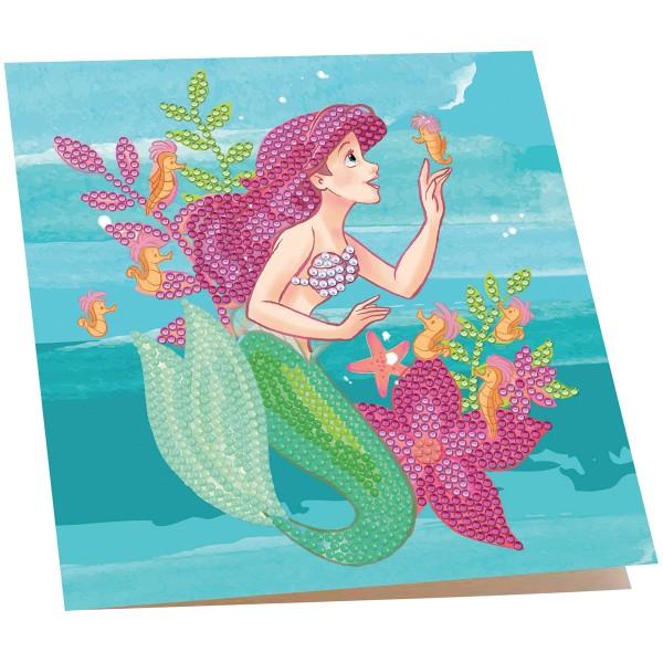Kit Crystal Art Disney - Carte La Petite Sirène - 18 x 18 cm - Photo n°2