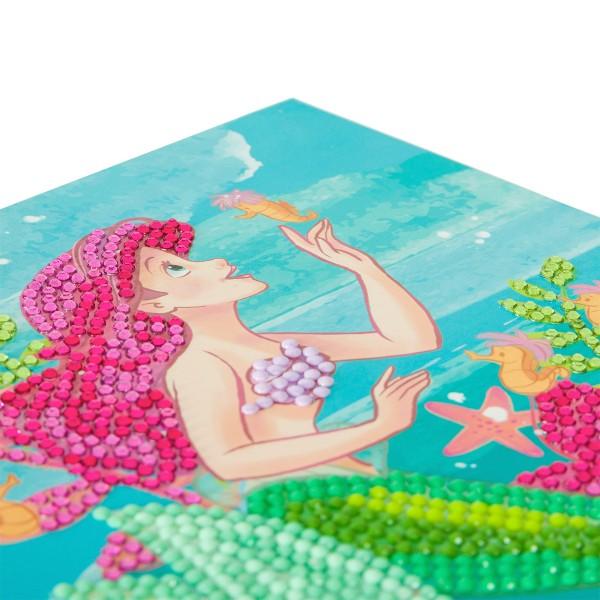 Kit Crystal Art Disney - Carte La Petite Sirène - 18 x 18 cm - Photo n°3