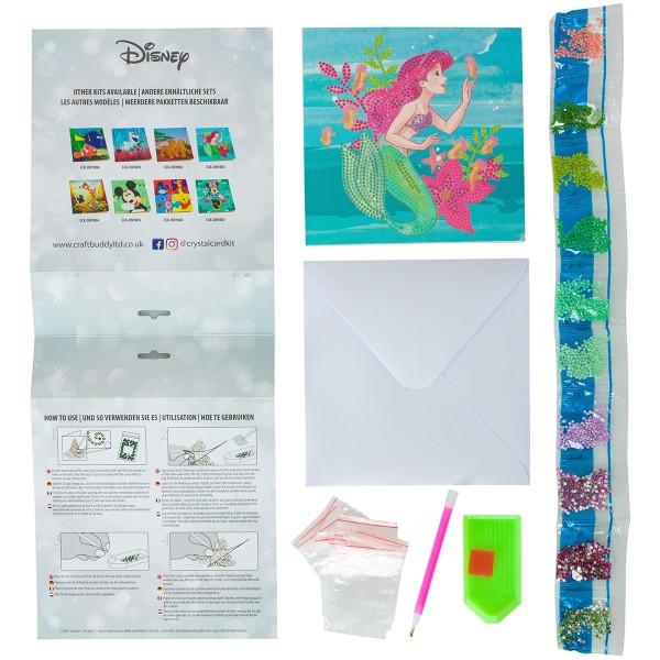 Kit Crystal Art Disney - Carte La Petite Sirène - 18 x 18 cm - Photo n°4