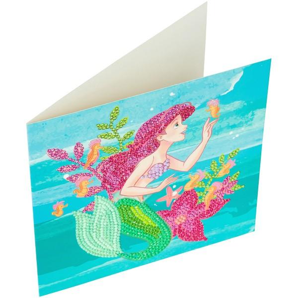 Kit Crystal Art Disney - Carte La Petite Sirène - 18 x 18 cm - Photo n°6