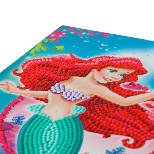 Kit Crystal Art Disney - Carnet La Petite Sirène - 26 x 18 cm - Photo n°3