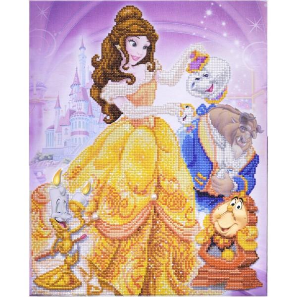 Kit Crystal Art Disney - Tableau La Belle et la Bête - 40 x 50 cm - Photo n°2