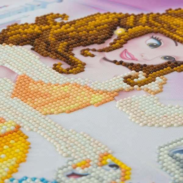 Kit Crystal Art Disney - Tableau La Belle et la Bête - 40 x 50 cm - Photo n°3