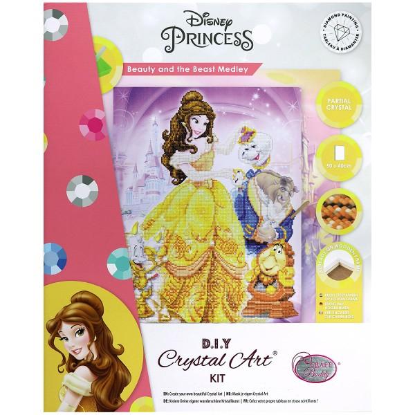 Kit Crystal Art Disney - Tableau La Belle et la Bête - 40 x 50 cm - Photo n°1