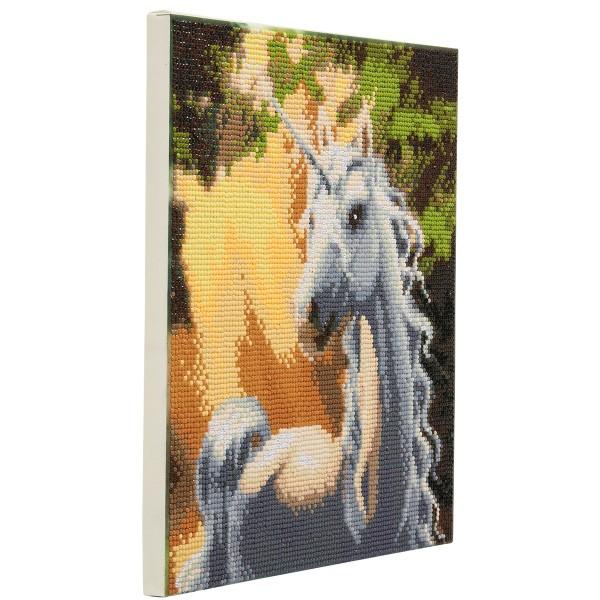 Kit Crystal Art - Tableau Licorne - 30 x 30 cm - Photo n°3