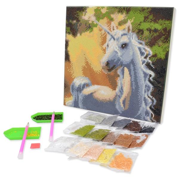 Kit Crystal Art - Tableau Licorne - 30 x 30 cm - Photo n°4