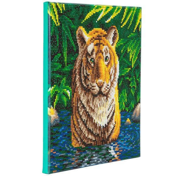 Kit Crystal Art - Tableau Tigre - 30 x 30 cm - Photo n°3