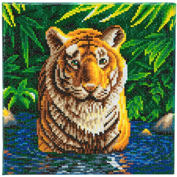 Kit Crystal Art - Tableau Tigre - 30 x 30 cm - Photo n°1