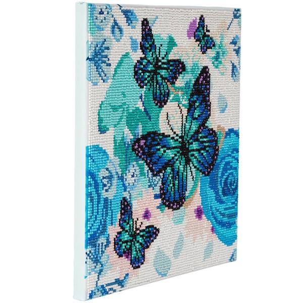 Kit Crystal Art - Tableau Papillons - 30 x 30 cm - Photo n°3