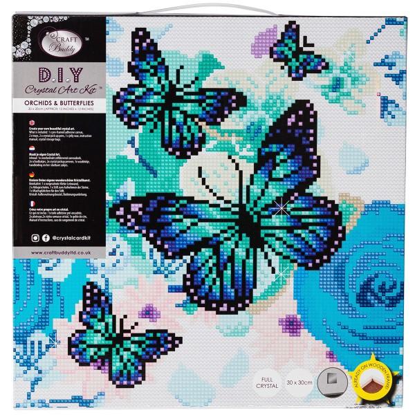 Kit Crystal Art - Tableau Papillons - 30 x 30 cm - Photo n°4