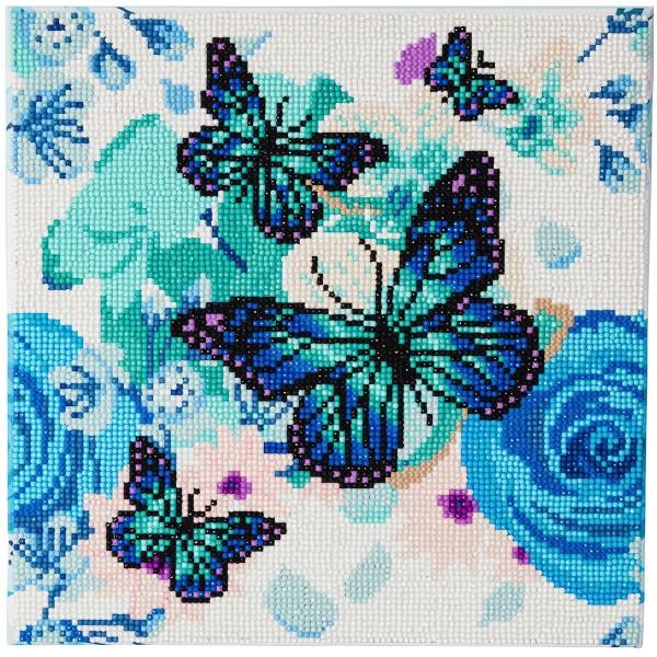 Kit Crystal Art - Tableau Papillons - 30 x 30 cm - Photo n°1