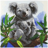 Kit Crystal Art - Tableau Koala - 30 x 30 cm