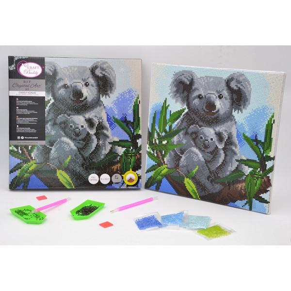 Kit Crystal Art - Tableau Koala - 30 x 30 cm - Photo n°2