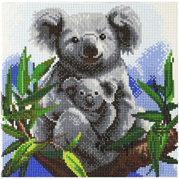 Kit Crystal Art - Tableau Koala - 30 x 30 cm - Photo n°1