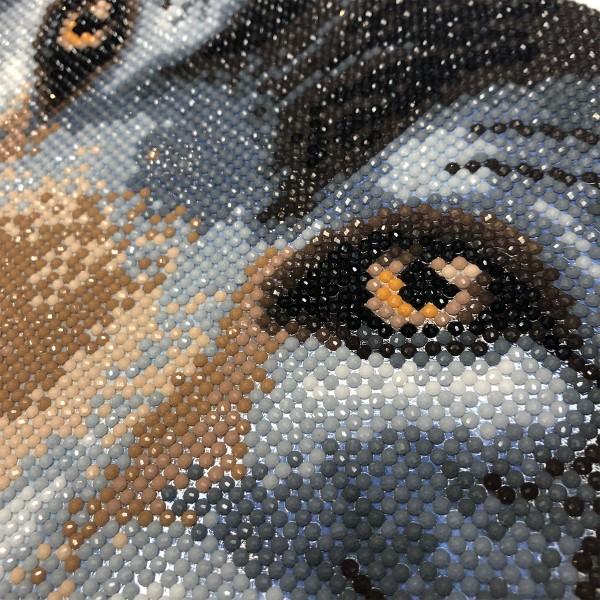 Kit Crystal Art - Tableau Loup - 30 x 30 cm - Photo n°2