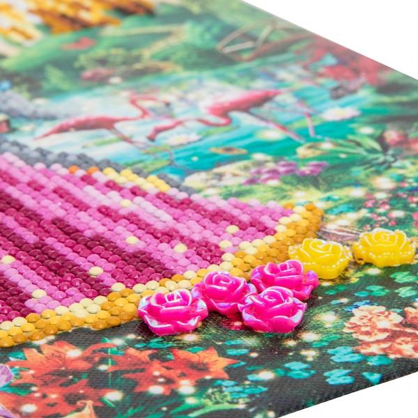 Kit Crystal Art - Tableau Princesse et Licorne - 30 x 30 cm - Photo n°2
