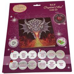 Kit Crystal Art - Carte Dragon - 18 x 18 cm