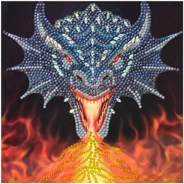 Kit Crystal Art - Carte Dragon - 18 x 18 cm - Photo n°2