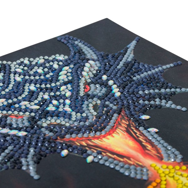 Kit Crystal Art - Carte Dragon - 18 x 18 cm - Photo n°3