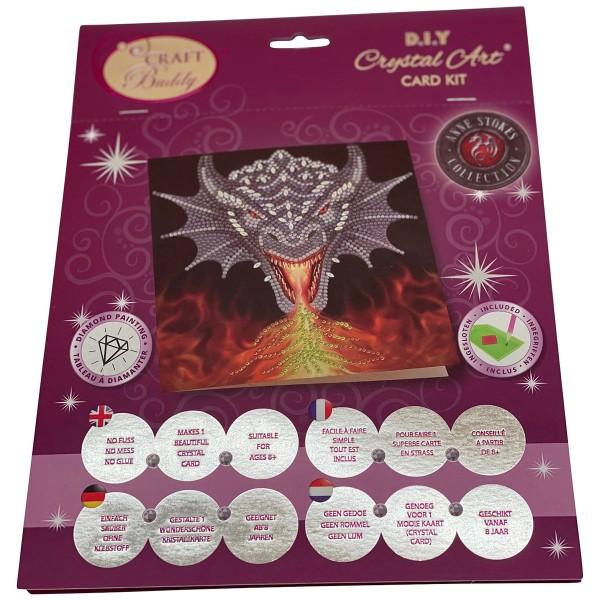 Kit Crystal Art - Carte Dragon - 18 x 18 cm - Photo n°1
