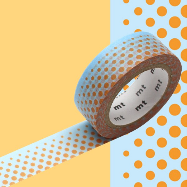 Masking Tape - Pois orange - 15 mm x 7 m - Photo n°2