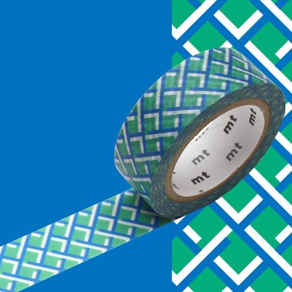 Masking Tape - Tressage Bleu / Vert - 15 mm x 7 m - Photo n°2