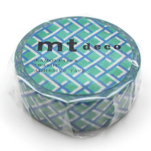 Masking Tape - Tressage Bleu / Vert - 15 mm x 7 m - Photo n°3