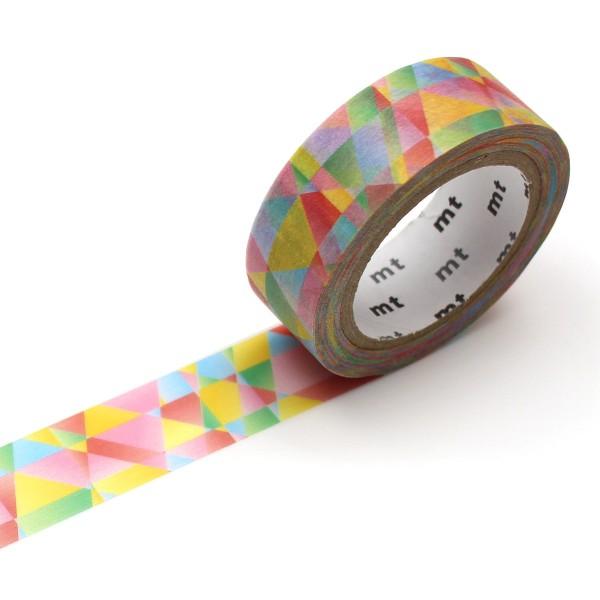 Masking Tape - Mosaïque multicolore - 15 mm x 7 m - Photo n°1