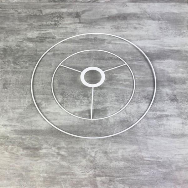 Set d'Ossature de Ø 20 à 30cm pour suspension conique, Tête ronde Ø 20cm, Anneau nu Ø 30cm, epoxy bl - Photo n°1