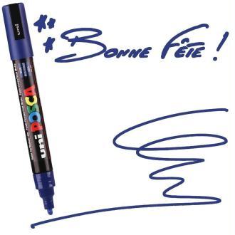 Marqueur Posca pointe conique moyenne 2,5 mm Bleu Foncé