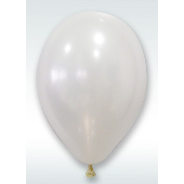 Lot De 24 Ballons De Baudruche Blanc Nacré Diam 30 Cm En Latex Naturel