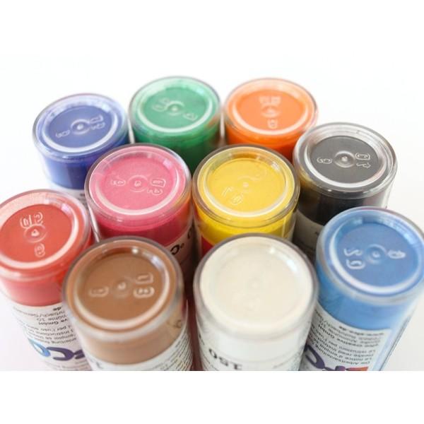 Set 10 couleurs Poudre Efcolor 10 ml, pour émaillage à froid, avec pendentifs et tamis, pour cuisson - Photo n°3