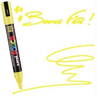 Marqueur Posca pointe conique moyenne 2,5 mm Jaune
