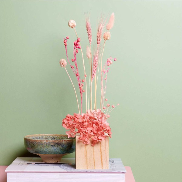 Fleurs séchées - Lin séché rose - 100 g - Photo n°4
