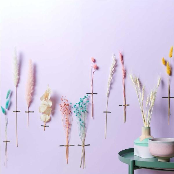 Fleurs séchées - Lagurus jaune - 50 pcs - Photo n°2