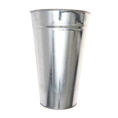 Seau en zinc - Petit Modèle - 19,5 x 12,5 x 30 cm