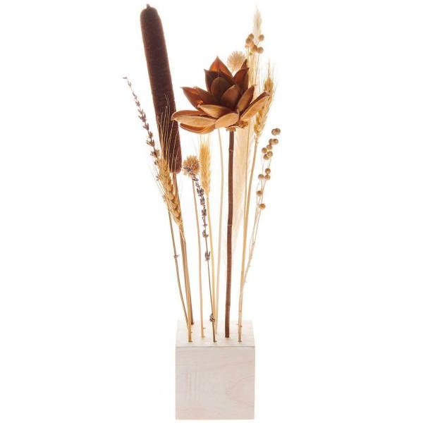 Bouquet de fleurs séchées - Naturel - 30 cm - Photo n°2