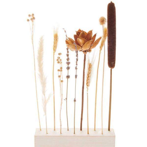 Bouquet de fleurs séchées - Naturel - 30 cm - Photo n°4