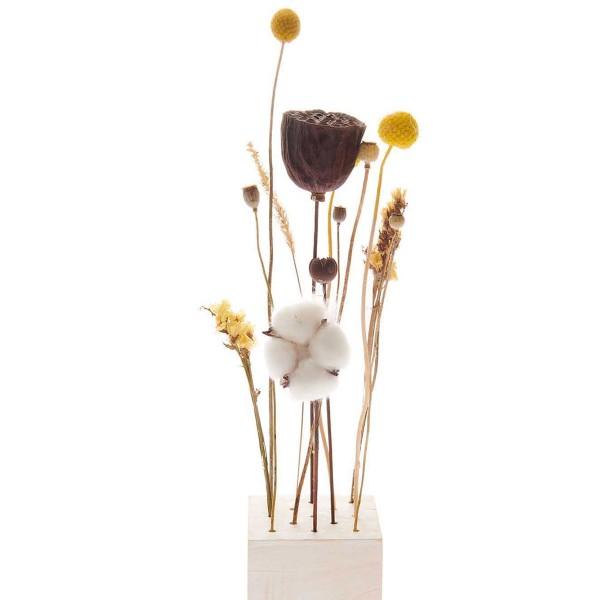 Bouquet de fleurs séchées - Nature Jaune - 30 cm - Photo n°5