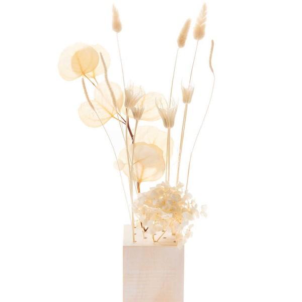 Bouquet de fleurs séchées - Nature Blanc - 30 cm - Photo n°4