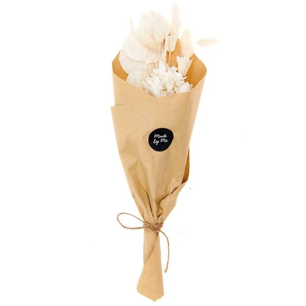Bouquet de fleurs séchées - Nature Blanc - 30 cm - Photo n°5