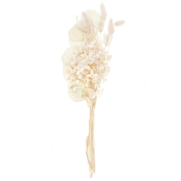 Bouquet de fleurs séchées - Nature Blanc - 30 cm - Photo n°1