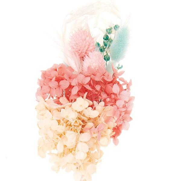 Bouquet de fleurs séchées - Pastel Turquoise - 30 cm - Photo n°3