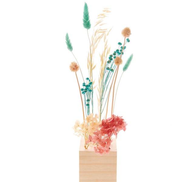 Bouquet de fleurs séchées - Pastel Turquoise - 30 cm - Photo n°5